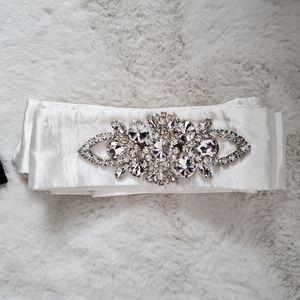 Bridal off white sash
